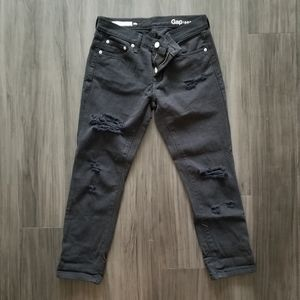Girlfriend Jeans with Distressed Detail